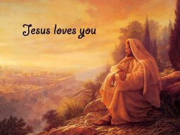 """""""JESUS IS THINKING ABOUT YOU"""" BY DAVID MCMILLEN"""