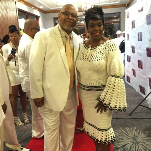 Carl B Phillips & Patti Pennington White Party Red Carpet