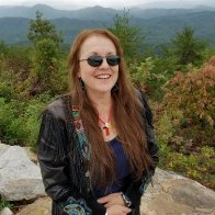 Ann M. Wolf at mountain overlook in Smoky Mountains