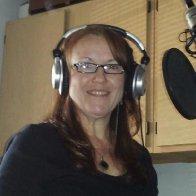 Ann M. Wolf in recording studio