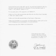 FLORIDA CERTIFICATE OF STATUS DOCUMENT