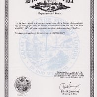 STATE OF FLORIDA CORPORATION DOCUMENT