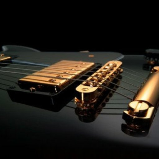 black gold guitar