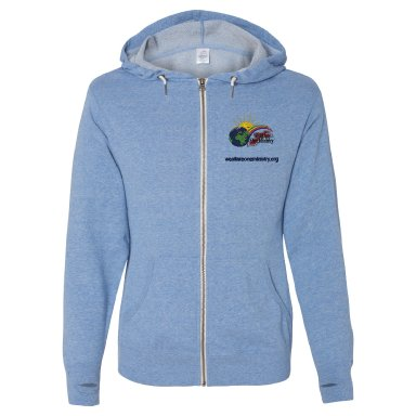 Embroidered Hooded Sweat Jacket