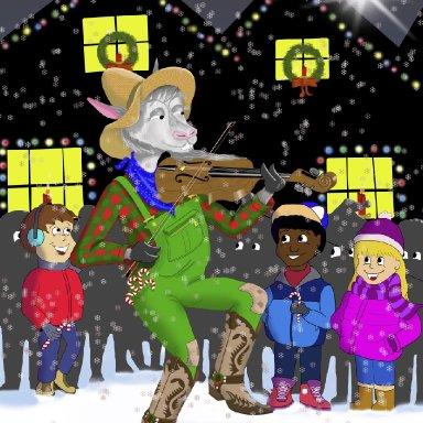 Billy Bob the Hillbilly Goat- Artist Betty Overstreet