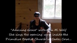 Harley Ride in Smokies to Driving BLUES, Amazing Grace with Ann M. Wolf